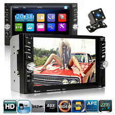 6.6'' 2 DIN Bluetooth Car MP5 Player Touch Screen Stereo Radio With Rear Camera