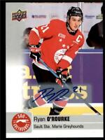 2019-20 UD CHL Autographs Parallel Auto #81 Ryan O'Rourke