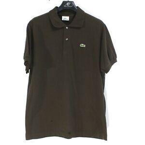 Lacoste Homme Polo Taille 4 M Marron Coton