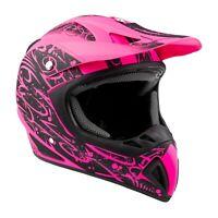 Typhoon Adult Dirt Bike Pink Helmet ATV Off Road ORV Motocross DOT Motorcycle