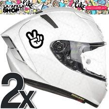 2x SALUDO MOTERO Vss sticker vinilo para el casco coche pegatinas moto cúpula