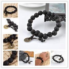 Chic Wood Buddha Buddhist Prayer Beads Tibet Bracelet Mala Bangle Wrist Ornament