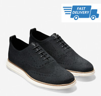 🔥COLE HAAN ORIGINAL GRAND Wingtip Oxford Stitchlite Men Shoes BLACK C27959 NEW