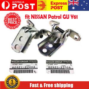 Genuine NISSAN Patrol GU Y61 Door Hinges Set Front Right RHF Left LHF