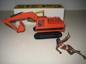 Caterpillar 215 Excavatrice Pelle Orange #190.8 NZG 1:50 Emballage Rare Limitée