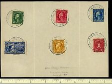 U.S. Stamps Used with U.S.M.A.G. Vera Cruz Mexico Cancel on Hand Back Souvenir