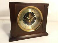 Bulova World Time Desk Mantle Shelf Display Clock Vintage Made In Japan