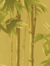 Paradise Handpainted Look Bamboo Stalks on Golden Beige Wallpaper 56643981