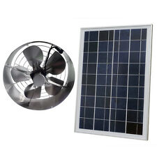 Solar Power 65W Ventilator Gable Roof Vent Fan W/ 25W Solar Panel for Home Attic