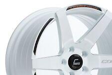 Cosmis Racing S1 18x9.5 +15 18x10.5 +5 5x114.3 White 350z G35 240sx Mustang 370z