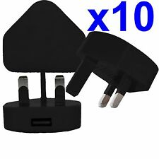 10 x 100% CE USB UK AC WALL PLUG CHARGER ADAPTER FOR iPhone iPod Samsung HTC