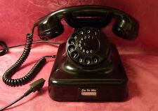 W48  altes alt Telefon antik Bakelit DeTeWe Fernsprecher Telephone  W48  TOP