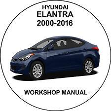 hyundai elantra 2000-2016 Workshop Service Repair Manual