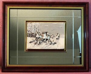 """Vintage Artistic Sculpture Relife covered mirror frame 925 Silver 28"""" X 23""""."""