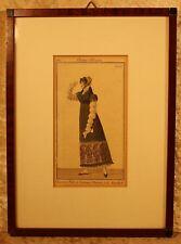Costume Parisien 1810 Platte 1051=altcolorierter Kupferstich, gerahmt 30,5x22,0