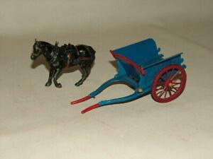 VINTAGE BRITAINS TOYS DIECAST FARM HORSE & BLUE CART No.40F 1:32