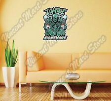 "Zombie Head Vampire Freak Gift Idea Wall Sticker Room Interior Decor 20""X25"""