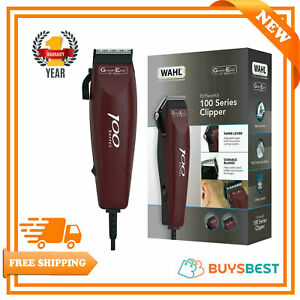 Wahl 100 GroomEase Hair Clipper Shaver Trimmer Kit Corded 9-Piece Set - Maroon