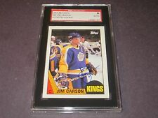 JIMMY CARSON AUTOGRAPHED 1987-1988 TOPPS ROOKIE CARD-SGC SLAB-ENCAPSULATED