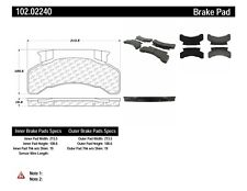 Disc Brake Pad Set-C-TEK Metallic Brake Pads Front,Rear Centric 102.02240