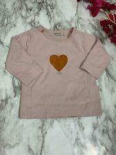 Imps & Elfs Light Pink I Heart Life Long Sleeve Top 0-3 Month