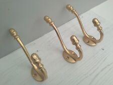 Set di 3 punta ghianda ferro Appendiabiti Gancio a doppia parete shabby chic oro