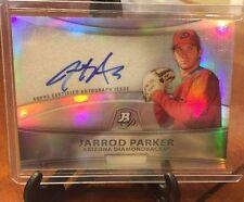 Jarrod Parker 2010 BOWMAN PLATINUM AUTO Autograph