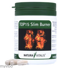 Natura Vitalis  - TOP15 Slim Burner - 180 Fettverbrenner-Kapseln