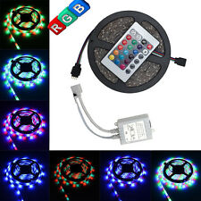 Boat Accent Light Waterproof LED Lighting Strip 16 ft /5M RGB & 24KEY IR Remote