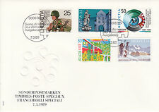 Schweiz  FDC Ersttagsbrief 1989 Jahresereignisse Mi.Nr.1385-89