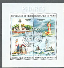 Lighthouses- Min sheet -cto-fine used-Niger