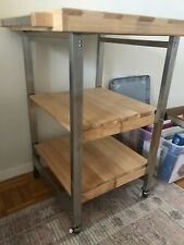 Modern Wooden Bar Cart - 3 Tiers, Foldable, Excellent Condition