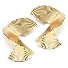 2018 New Fashion Metal Irregular Gold Silver geometric Ear Stud Earrings Jewelry