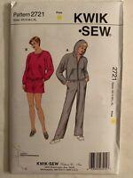 Kwik Sew 2721 Sweat Shirt Pants Pattern Size XS S M L XL Uncut