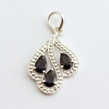 Beautiful Iolite (Water Sapphire) Pendant 925Silber Rhodium-Plated Jewelry