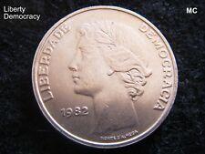 1982 25 escudos portugueses Liberty moneda en Extremadamente Fino Grado