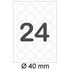 1200 runde Sticker Ø 40mm 4cm rund Etiketten Format wie Zweckform 3415 A4 4476