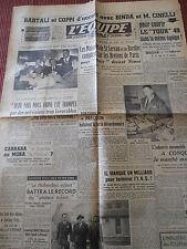 JOURNAL L'EQUIPE BARTALLI / COPPI  CYCLISME 1949 (A)