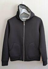 SANDRO 'Pavement' Black Cotton-Blend Full-Zip Hoodie - Mens Size M