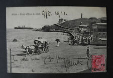 "AK / PK von 1911 "" Aden "" Post office & club / Hotel de l Europe Turkish Shop"