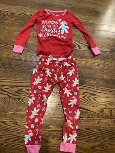 Gingerbread Xmas Carter's 5T Girls Pajamas Sleepwear Set. Dreaming Of A Frosty