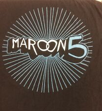 Maroon 5 Black Xl Shoes Sleeve Concert T Shirt 2013 Official Licensed