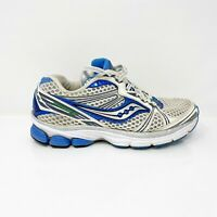 Saucony Womens Guide 5 10140-1 Gray White Blue Running Shoes Lace Up Size 6
