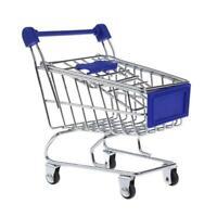 Kinder Rollenspiel Mini Metall Einkaufswagen & Korb Supermarkt Handwagen He K2W8