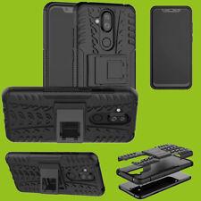 Für Nokia 8.1 2018 ( X7 ) 6.18 Hybrid Case 2teilig Outdoor Schwarz Tasche Hülle