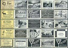 25 alte Gasthaus-Streichholzetiketten aus Deutschland #19