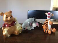 Vintage Disney Winnie the Pooh, Tiger, & Eeyore Japan