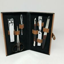 Manicure Pedicure Nail Grooming Tools w/ travel case Stainless Steel