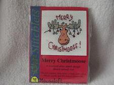 MOUSELOFT STITCHLETS CROSS STITCH KIT ~ MERRY CHRISTMOOSE~ CHRISTMAS ~ NEW