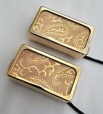 GOLD PAISLEY Lace Sensor Alumitone Custom Shop humbucker set,built by Jeff Lace
